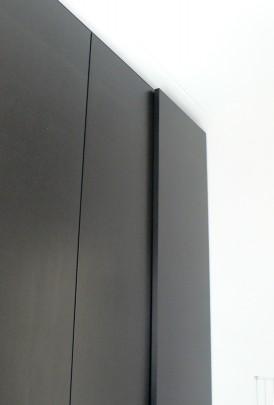 garderobekast zwart mdf